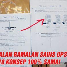 100% Kena Tepat UPSR Sains tahun lepas (1)